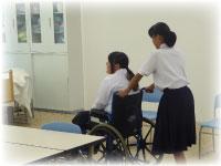 車椅子体験の様子